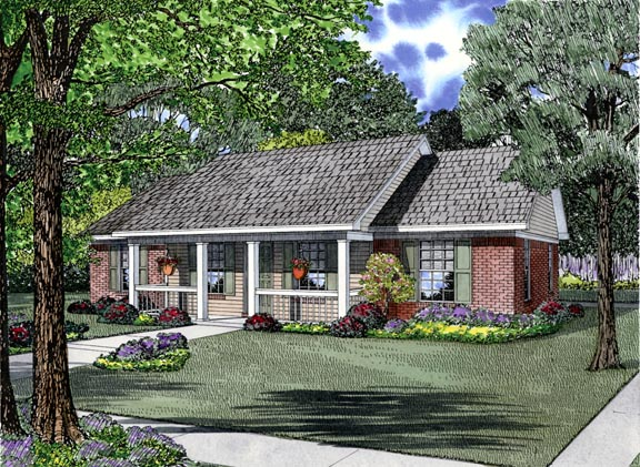 Cottage Country Ranch House Plan 62386 Elevation