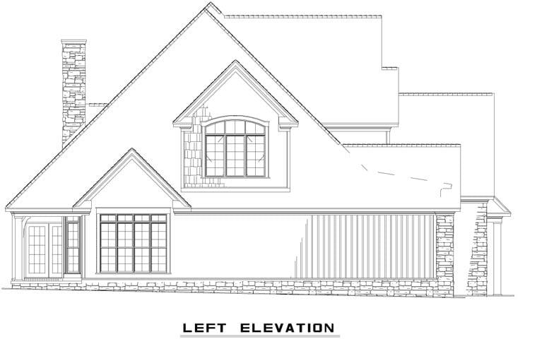 Craftsman, European, Tudor House Plan 62393 with 4 Beds, 3 Baths, 2 Car Garage Picture 1