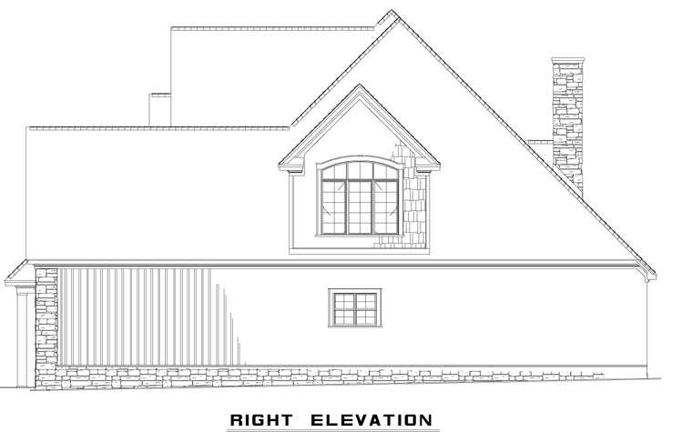 Craftsman, European, Tudor House Plan 62393 with 4 Beds, 3 Baths, 2 Car Garage Picture 2