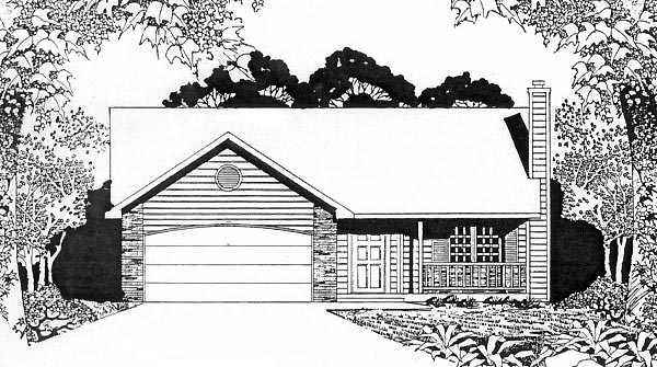 Ranch House Plan 62508 Elevation