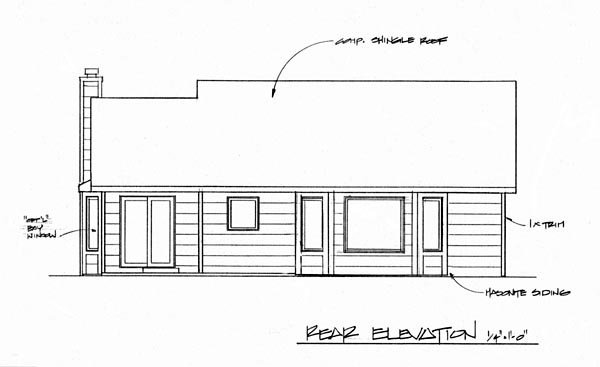 Traditional House Plan 62510 Rear Elevation