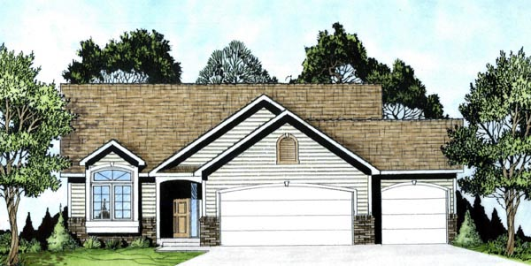 Traditional House Plan 62511 Elevation