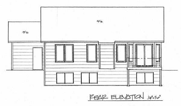 Traditional House Plan 62511 Rear Elevation