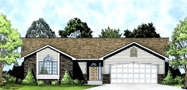Traditional House Plan 62515 Elevation