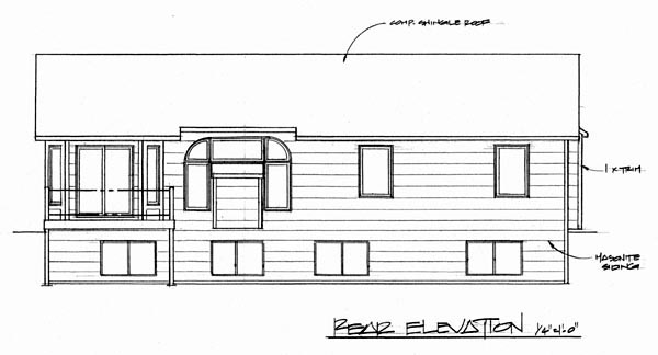 Traditional House Plan 62515 Rear Elevation