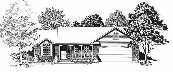 Ranch House Plan 62518 Elevation