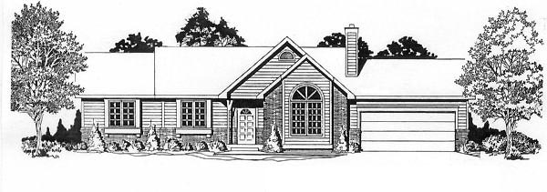 Ranch House Plan 62519 Elevation