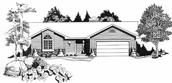 Ranch House Plan 62528 Elevation
