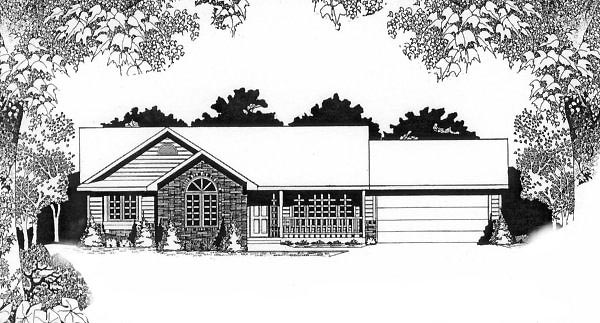 Ranch House Plan 62532 Elevation