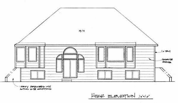 Traditional House Plan 62540 Rear Elevation