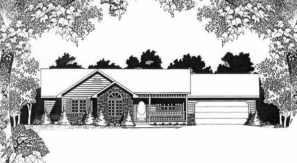 Ranch House Plan 62541
