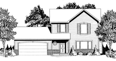Traditional House Plan 62543 Elevation