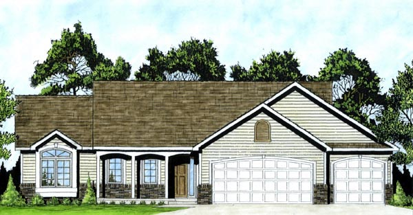 Traditional House Plan 62546 Elevation
