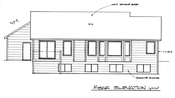 Traditional House Plan 62546 Rear Elevation