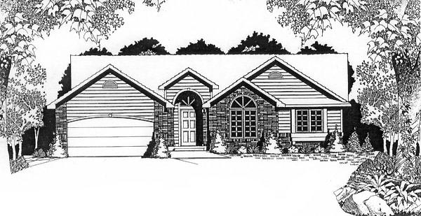 Traditional House Plan 62569 Elevation