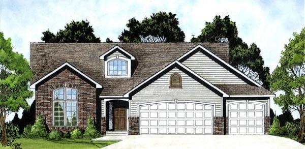 Tudor House Plan 62571 Elevation