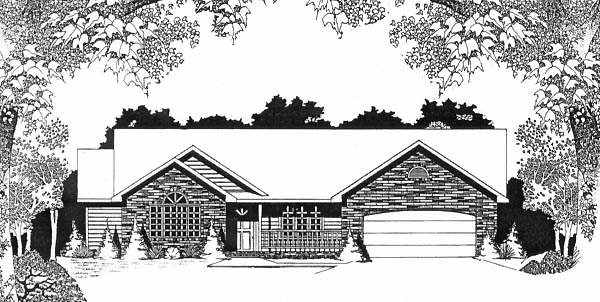 Ranch House Plan 62581 Elevation