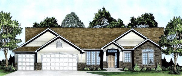 Traditional House Plan 62599 Elevation