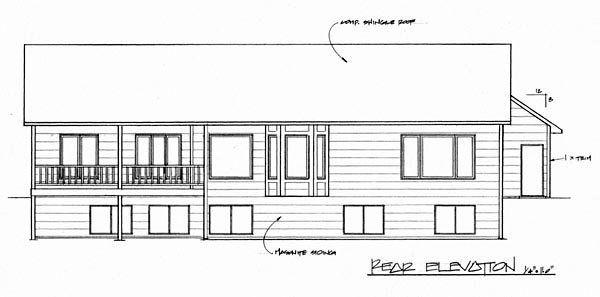 Traditional House Plan 62599 Rear Elevation