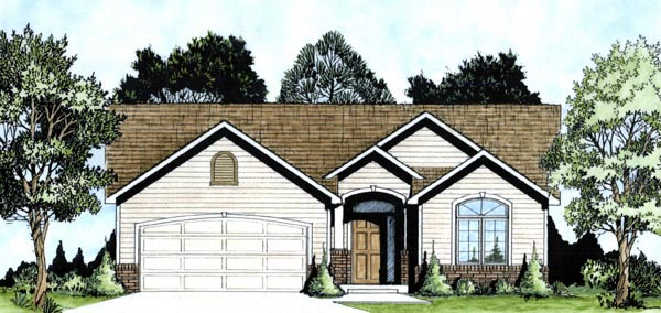 Traditional House Plan 62605 Elevation