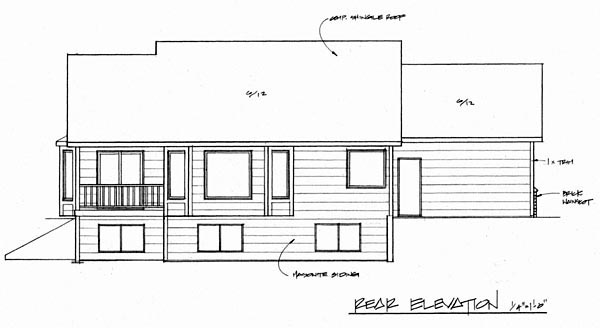 Traditional House Plan 62606 Rear Elevation