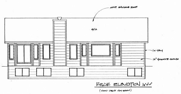 Traditional House Plan 62610 Rear Elevation