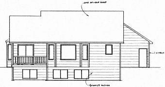 Ranch Traditional House Plan 62619 Rear Elevation