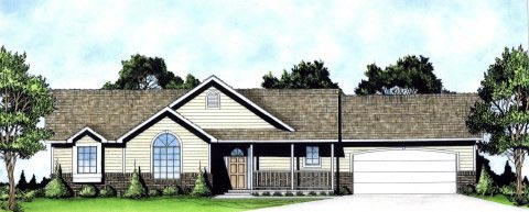 Ranch Traditional House Plan 62620 Elevation