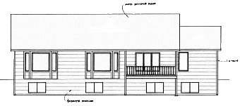 Ranch Traditional House Plan 62625 Rear Elevation