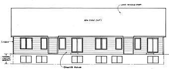 Ranch Traditional Multi-Family Plan 62626 Rear Elevation