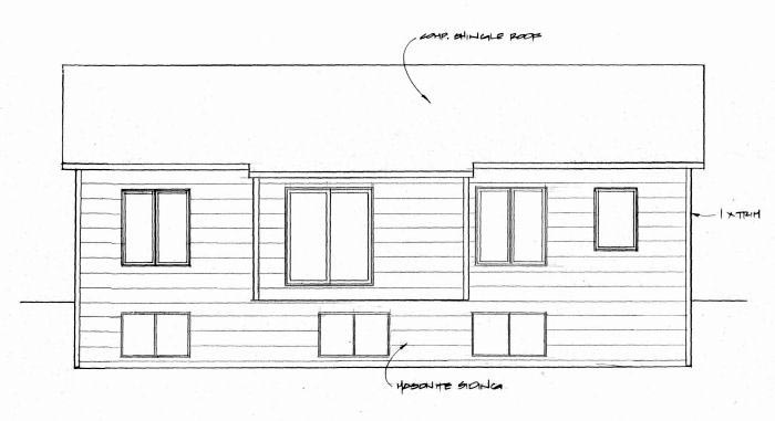 Traditional Rear Elevation of Plan 62630