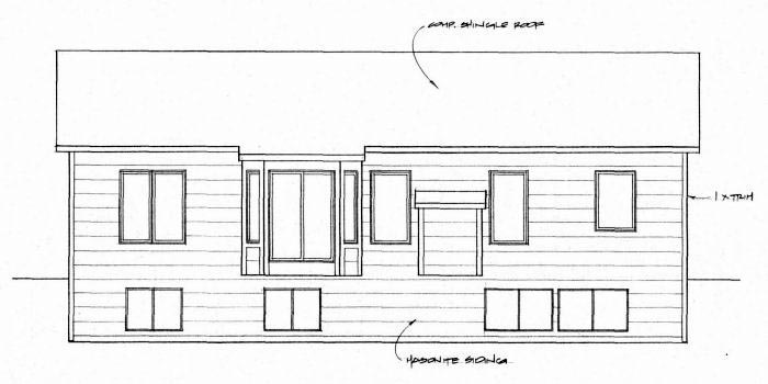 Traditional House Plan 62632 Rear Elevation