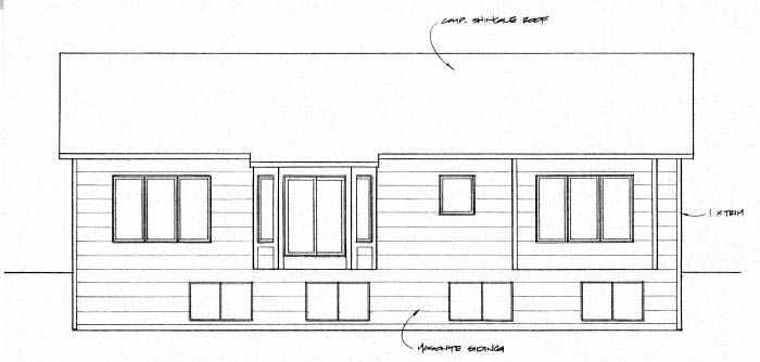 Traditional House Plan 62638 Rear Elevation