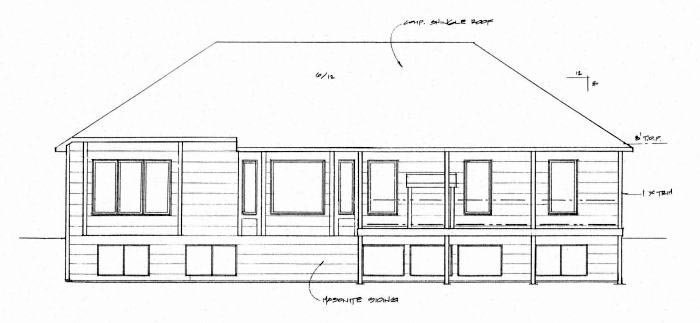 Traditional House Plan 62649 Rear Elevation