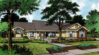 Country, One-Story, Traditional House Plan 63048 with 4 Beds, 3 Baths, 2 Car Garage Elevation