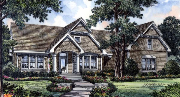 Bungalow Traditional House Plan 63049 Elevation