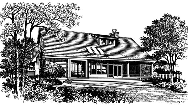 Bungalow Traditional House Plan 63049 Rear Elevation
