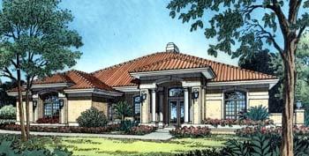 Florida Mediterranean House Plan 63065 Elevation