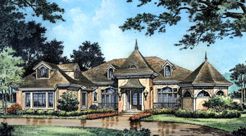 Mediterranean Victorian House Plan 63067 Elevation