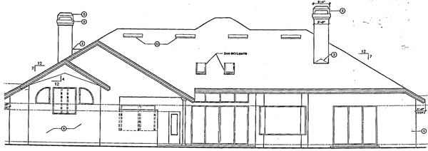 Mediterranean House Plan 63068 Rear Elevation