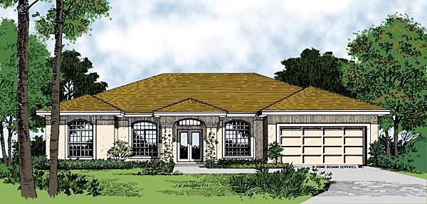 Mediterranean House Plan 63090 Elevation