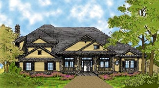 Colonial Traditional House Plan 63103 Elevation