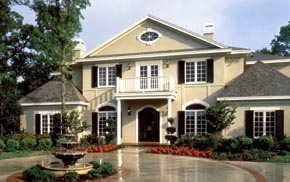 Colonial Mediterranean Southern House Plan 63105 Elevation