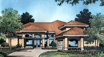 Florida Mediterranean House Plan 63109 Elevation