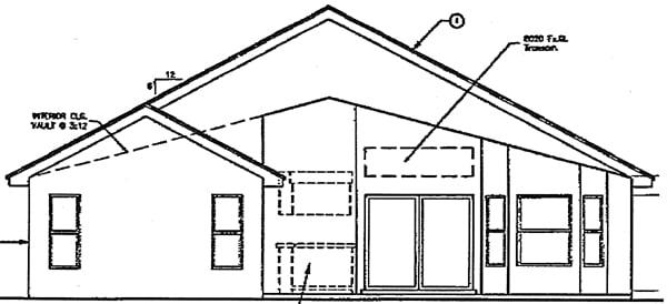 Mediterranean House Plan 63114 Rear Elevation