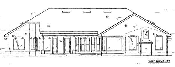 Florida Mediterranean House Plan 63132 Rear Elevation