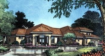 Florida Mediterranean House Plan 63133 Elevation