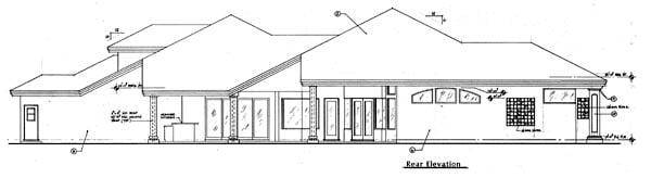 Florida Mediterranean House Plan 63133 Rear Elevation