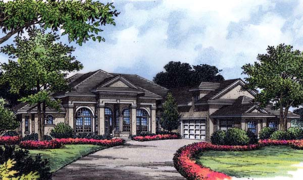 Florida Mediterranean House Plan 63151 Elevation