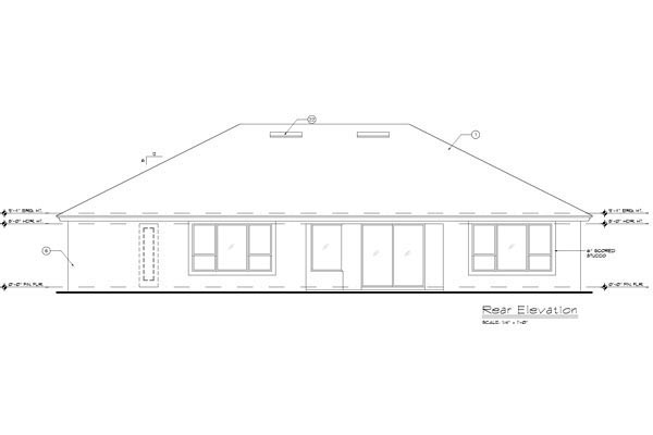 French Country Mediterranean Southern House Plan 63162 Rear Elevation